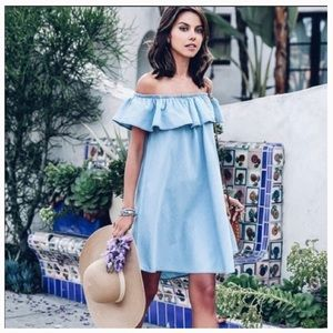 Zara Woman Chambray Dress